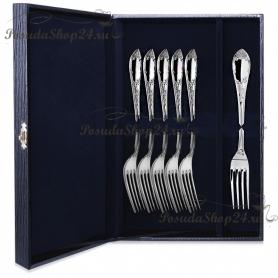 Набор десертных серебряных вилок «ПРЕСТИЖ» арт. 925-5-381ВЛ02001(6)