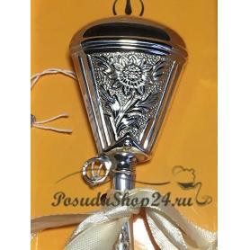 Серебряная погремушка «РОМАШКА». арт. 925-5-1GI0441F/8