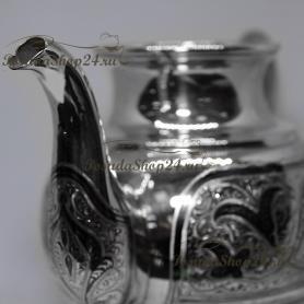Cеребряный чайник «ШАХ».  арт. 875-6-0021