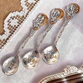 Серебряная ложка«ВОДОЛЕЙ». арт. 925-5-712ЛЖ00002
