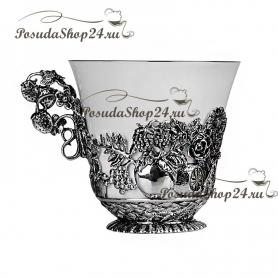 Серебряная чайная  пара «Натюрморт». арт. 925-5-786ЧШ03006(н2)