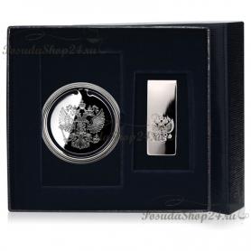"""Подарочный набор из серебра """"ГЕРБ"""" арт. 925-5-295ЗК22001(нб.герб)"""