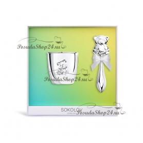 Подарочный набор из серебра «МИШУТКА». арт. 925-8-2301010034/20