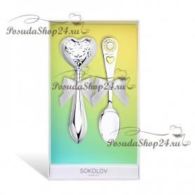 Детский набор из серебра «СЕРДЦЕ-СОЛНЫШКО». арт. 925-8-2302010005/0021