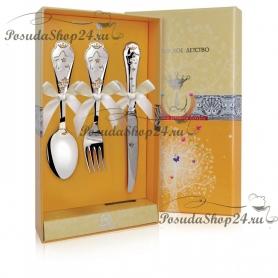 Детский набор серебряных приборов «ЗВЕЗДА». арт. 925-5-560НБ05802