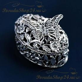 Серебряная шкатулка «Бабочка». арт. 925-5-528ШК00006
