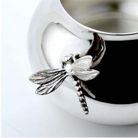 Серебряный набор для кофе «СТРЕКОЗА». арт. 925-5-1308ТР07801