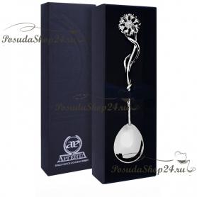 Серебряная чайная ложка «ВАСИЛЕК». арт. 925-5-071ЛЖ03001