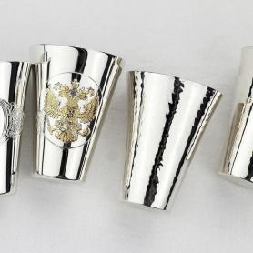 Набор из 2 серебряных стопок«ГЕРБ» арт. 925-5-294НБ00802