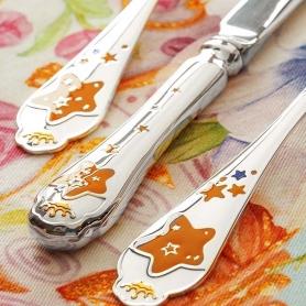Детский набор из двух серебряных приборов «ЗВЕЗДА». арт.925-5-520НБ05802
