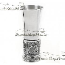 Серебряная стопка «ЛИСЬЯ ОХОТА» арт. 925-5-427СТ00001