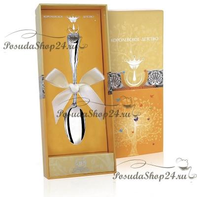 Серебряная чайная ложка «ВИЗИТ». арт. 925-5-263ЛЖ03001