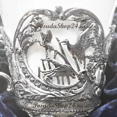 Серебряный чайный набор «КОРОЛЕВСКАЯ ОХОТА». арт. 925-5-866ЧШ03806(н6)