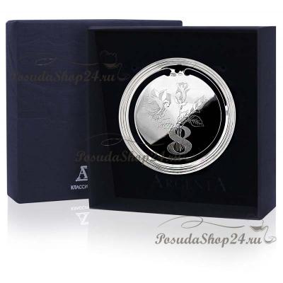 Серебряная закладка для книги«8 МАРТА».арт. 925-5-295ЗК22001